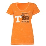 Step Ahead Blue 84 Women's Tennessee Bo V-neck T-shirt