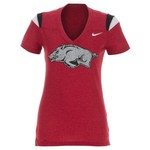 Nike Women's University of Arkansas Football Replica T-shirt