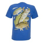 Guy Harvey Men's Bass Collage T-shirt