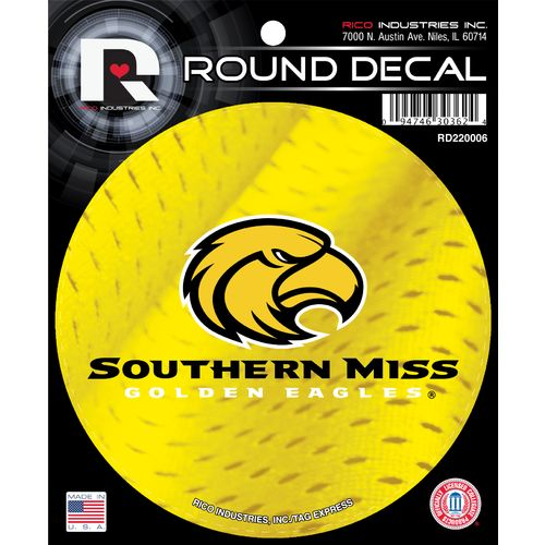 Tag Express University of Southern Mississippi Round Decal
