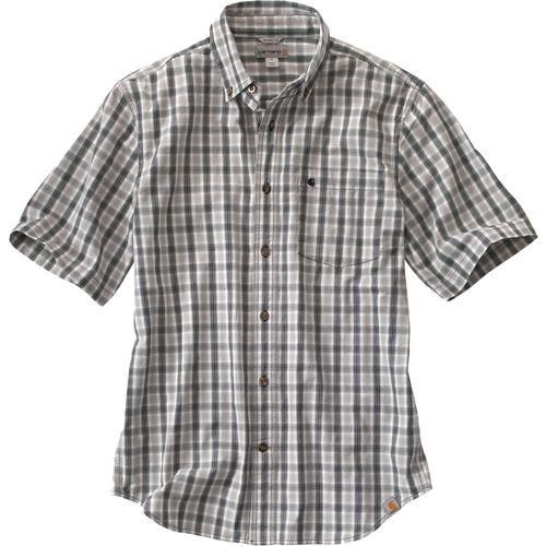 Carhartt Men s Essential Plaid Short Sleeve Button Down Shirt