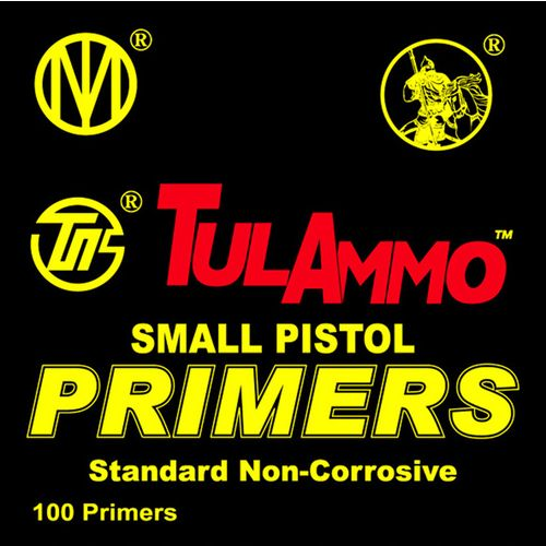 TulAmmo Small Pistol Primers 100-Pack