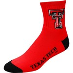 For Bare Feet Men's NCAA Team Color Quarter Socks