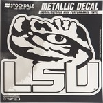 "Stockdale Louisiana State University 6"" x 6"" Metallic Vinyl Die-Cut Decal"