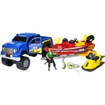 Tree House Kids Imagination Adventure Series 4x4 Truck Deluxe Boat Fishing Set