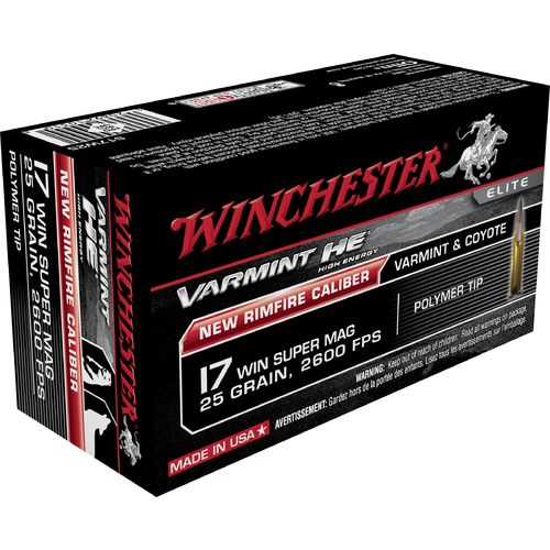 Display product reviews for Winchester Varmint HE .17 Winchester Super Mag 25-Grain Rimfire Ammunition