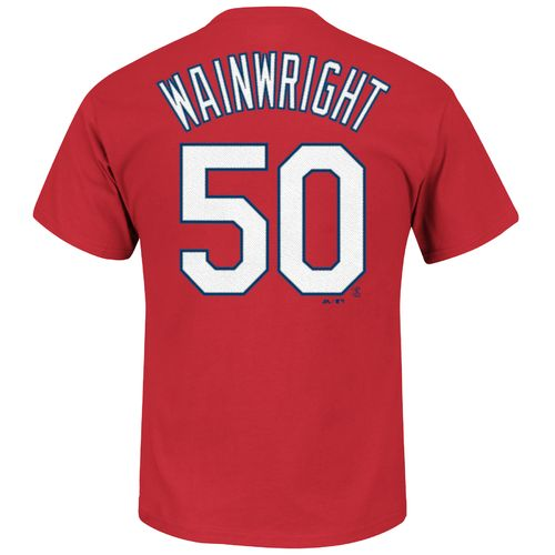 Majestic Men's St. Louis Cardinals Adam Wainwright #50 T-shirt