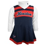 NFL Girls' Houston Texans Cheer Jumper Dress with Turtleneck Set