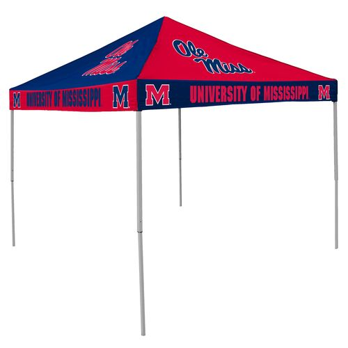 Logo University of Mississippi Straight-Leg 9 ft x 9 ft Checkerboard Tent