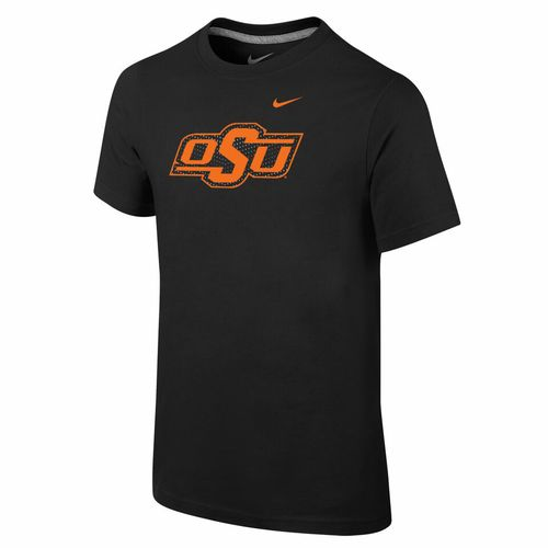 Nike™ Boys' Oklahoma State University Locker Room Cotton Practice T-shirt