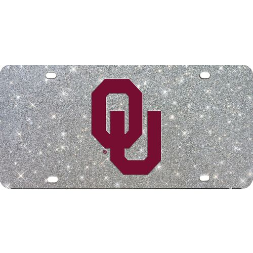 Stockdale University of Oklahoma Glitter Logo License Plate