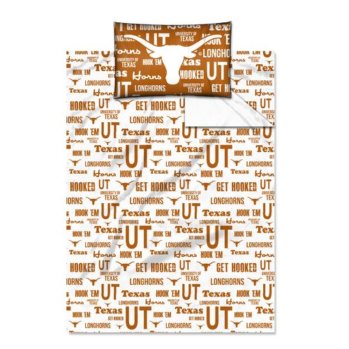 The Northwest Company University of Texas Anthem Twin Sheet Set