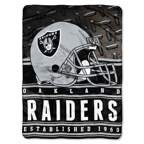 The Northwest Company Oakland Raiders Stacked Silk Touch Throw