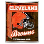The Northwest Company Cleveland Browns Old School Mink with Sherpa Throw