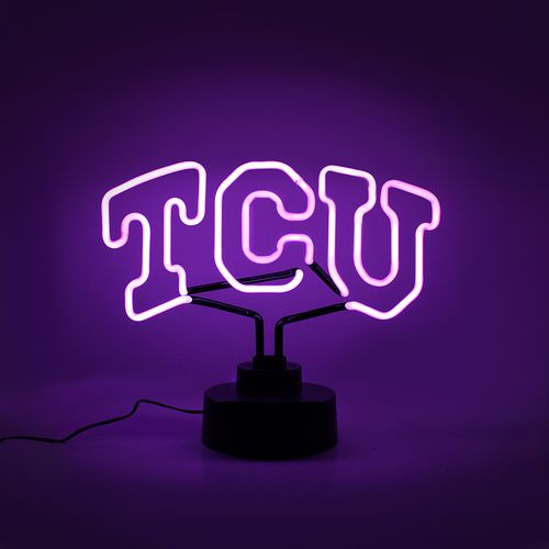 AES Optics Texas Christian University Neon Table Light