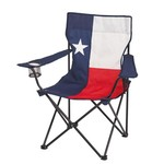 Academy Sports + Outdoors™ Logo Texas Flag Folding Arm Chair