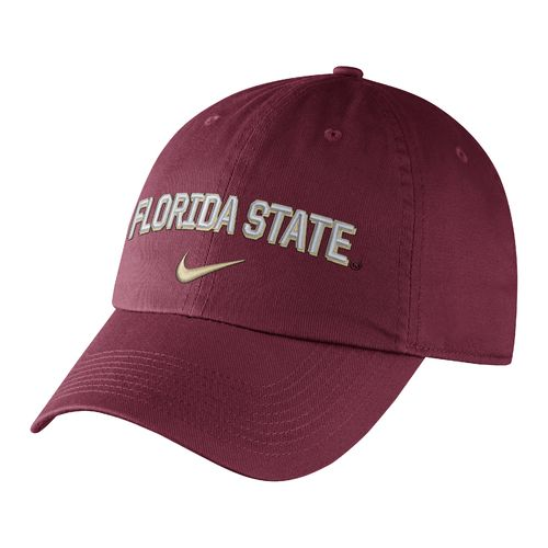 Nike™ Men's Florida State University Heritage86 Wordmark Swoosh Flex Cap - view number 1