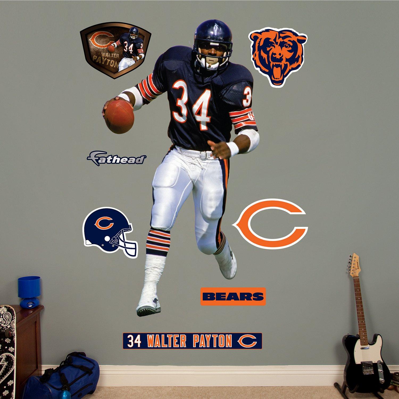 Fathead Chicago Bears Walter Payton Real Big Wall