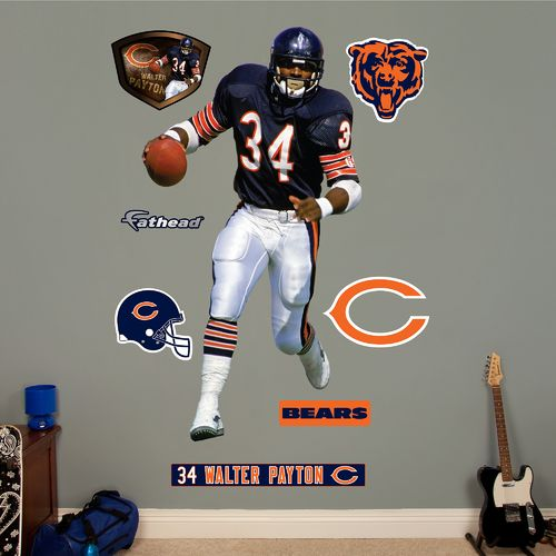 Fathead Chicago Bears Walter Payton Real Big Wall Decal
