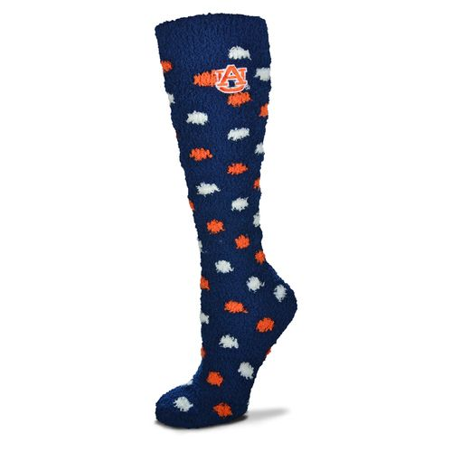 For Bare Feet Women's Auburn University Originals Sleepsoft Polka-Dot Knee-High Socks