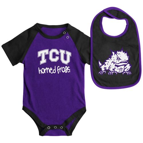 Colosseum Athletics Infants' Texas Christian University Rookie Onesie and Bib Set