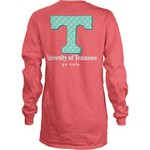 Three Squared Juniors' University of Tennessee Octagon Mascot T-shirt