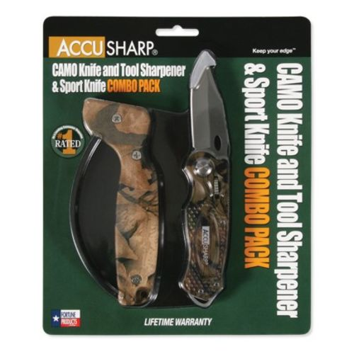 AccuSharp® Camo Folding Sport Knife and Sharpener Combo