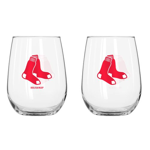Boelter Brands Boston Red Sox 16 oz. Curved Beverage Glasses 2-Pack