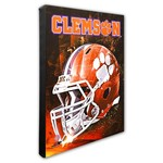 Photo File Clemson University Helmet Stretched Canvas Photo - view number 1