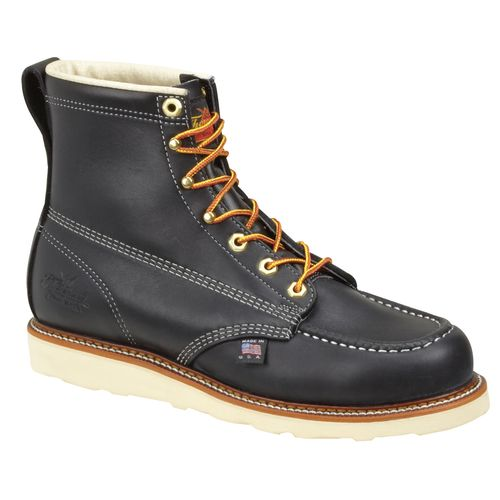 "Thorogood Shoes Men's American Heritage 6"" Wedge Moc Toe Safety Toe Work Boots"