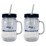 Boelter Brands Seattle Seahawks 20 oz. Handled Straw Tumblers 2-Pack