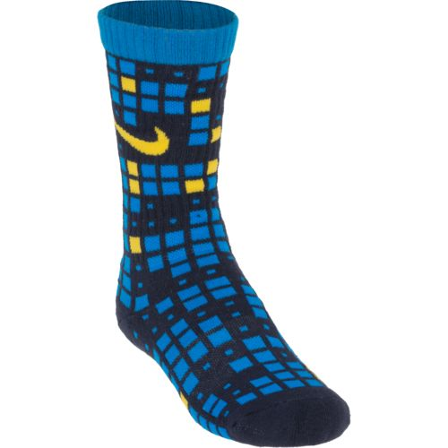 Nike Boys' Graphic Cotton Cushion Crew Socks 3-Pair