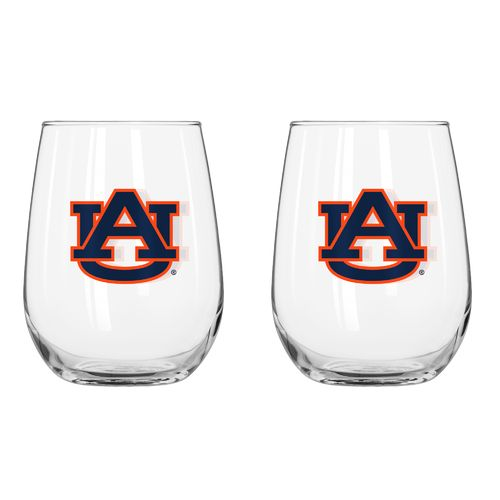 Boelter Brands Auburn University 16 oz. Curved Beverage Glasses 2-Pack - view number 1