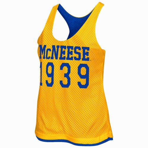 Colosseum Athletics Women's McNeese State University Triple Crown Reversible Tank Top