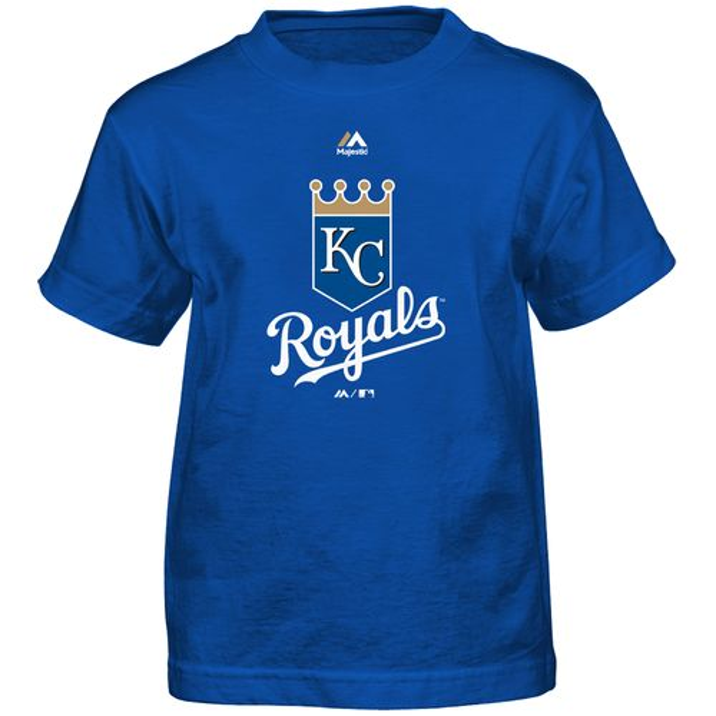 Majestic Boys' Kansas City Royals Primary Logo T-shirt