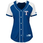 Majestic Women's Texas Rangers Fashion Replica Jersey