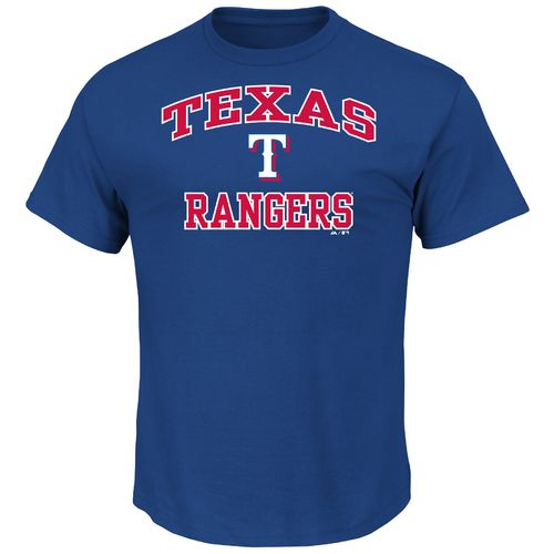 Majestic Men's Texas Rangers Heart and Soul T-shirt