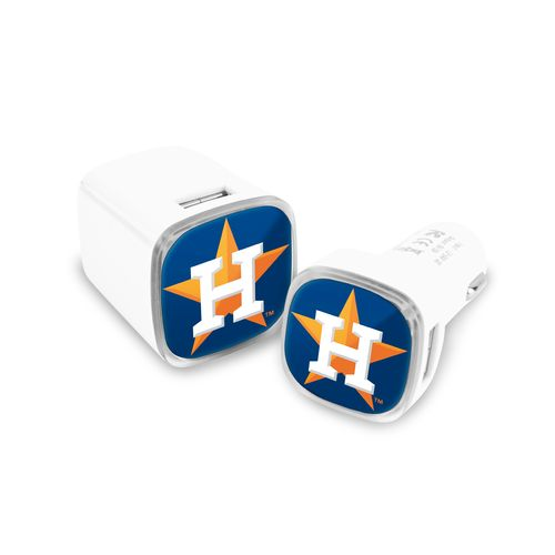Mizco Houston Astros Car and Wall Charger Set