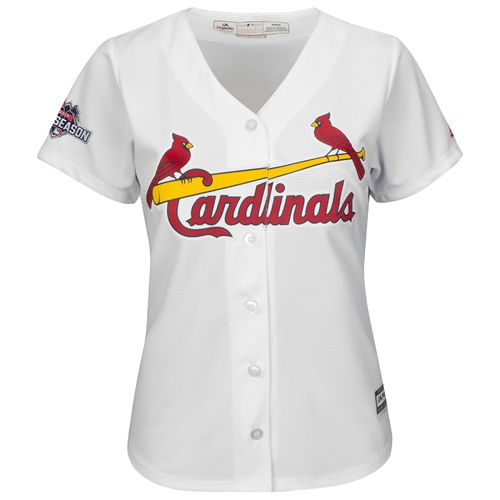 Majestic Women's St. Louis Cardinals Kolten Wong #16 Cool Base Replica Home Jersey - view number 2