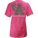 Three Squared Juniors' University of Kentucky Preppy Paisley T-shirt
