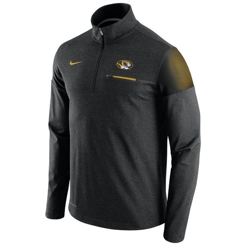Nike™ Men's University of Missouri Coaches 1/2 Zip Pullover