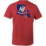 Image One Men's University of Louisiana at Lafayette State Flag Comfort Color T-shirt