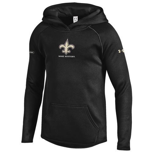 Under Armour™ NFL Combine Authentic Girls' New Orleans Saints Armour® Fleece Hoodie