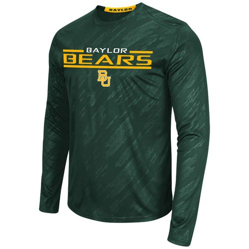 Colosseum Athletics™ Men's Baylor University Sleet Embossed Long Sleeve T-shirt