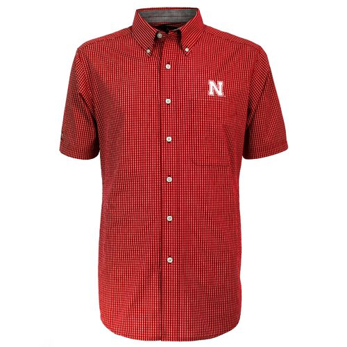 Antigua Men's University of Nebraska League Short Sleeve Shirt