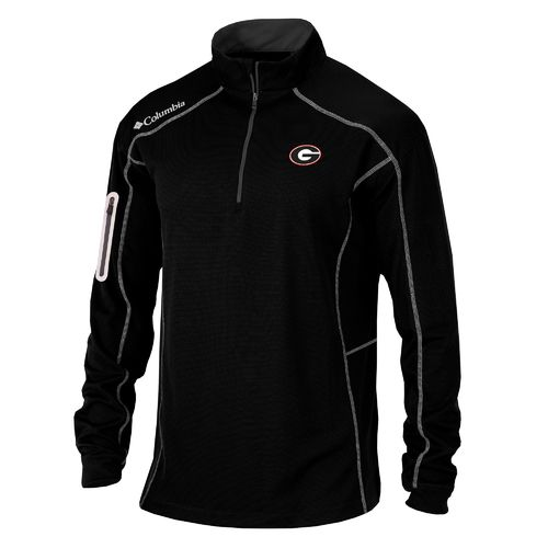 Columbia Sportswear™ Men's University of Georgia Shotgun 1/4 Zip Pullover