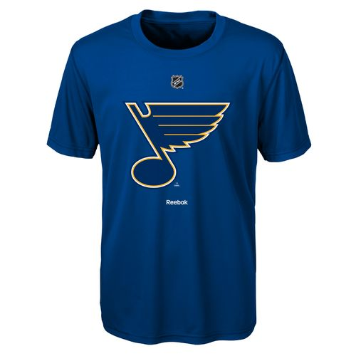 Reebok Boy's St. Louis Blues Primary Logo Poly T-shirt