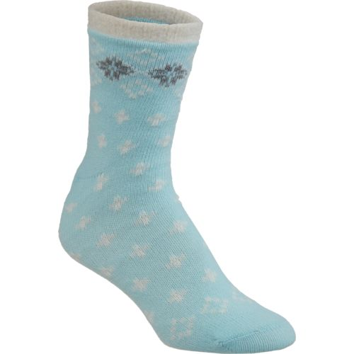 Magellan Outdoors Women's Lodge Tipped Fair Isle Socks