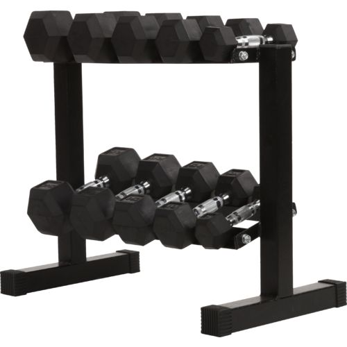 BCG 150 lbs Rubber Hex Dumbbell Set - view number 3