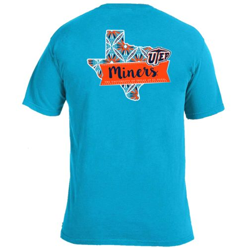 Image One Women's University of Texas at El Paso Pattern Scroll State T-shirt